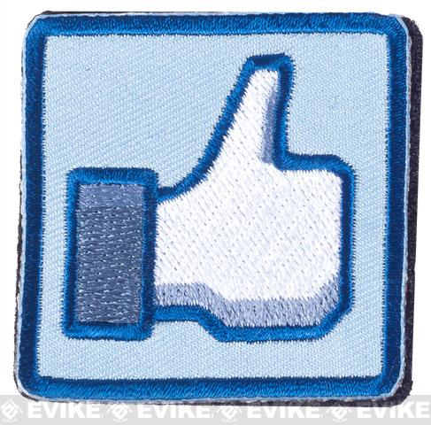 Matrix Thumbs Up 2 IFF Hook and Loop Morale Patch - Blue