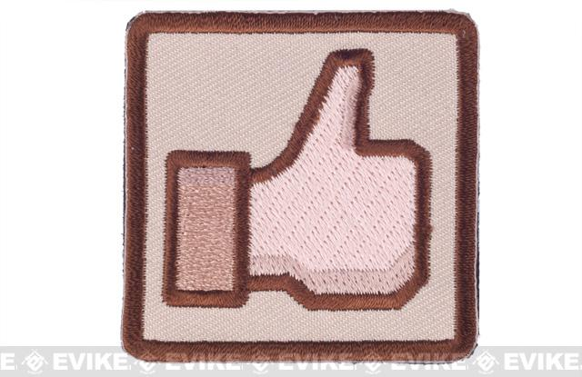 Matrix Thumbs Up 2 IFF Hook and Loop Morale Patch - Tan