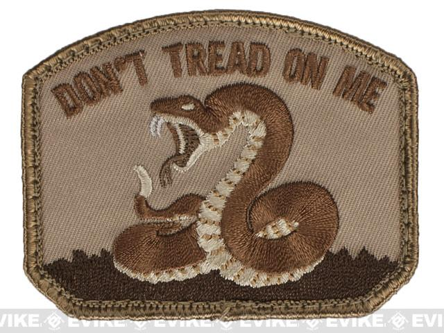Mil-Spec Monkey Don't Tread Hook and Loop Patch - Desert