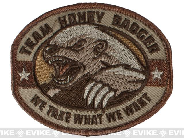 Mil-Spec Monkey Honey Badger Embroidered Patch - Desert