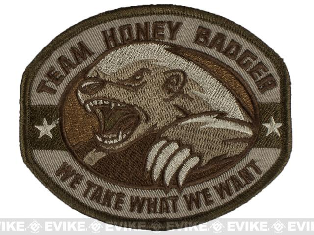 Mil-Spec Monkey Honey Badger Embroidered Patch - Multicam