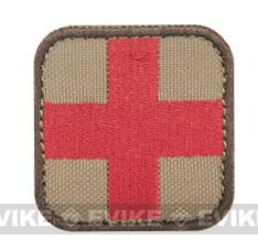 Condor 50mm Tactical Hook & Loop Patch - Medic (Tan / Red)