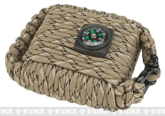 Evike.com Outdoor Survival Paracord Survival Kit (Color: Dark Earth)