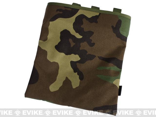 Black Owl Gear / Phantom High Speed Belt / MOLLE Magazine Dump Pouch (Foldable) - Woodland Camo