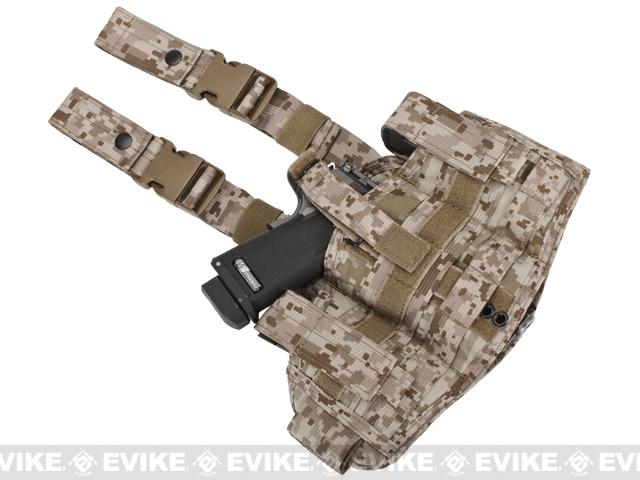 Black Owl Gear / Phantom Navy Seal Drop Leg Thigh Holster Rig - Digital Desert Marpat