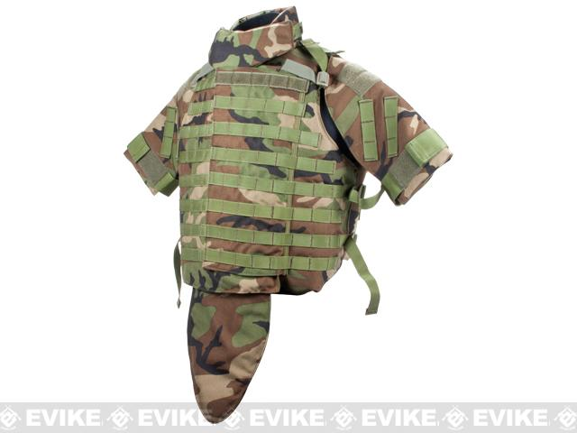 Black Owl Gear / Phantom Interceptor Replica Modular OTV Body Armor / Vest - Extra Large (Woodland)
