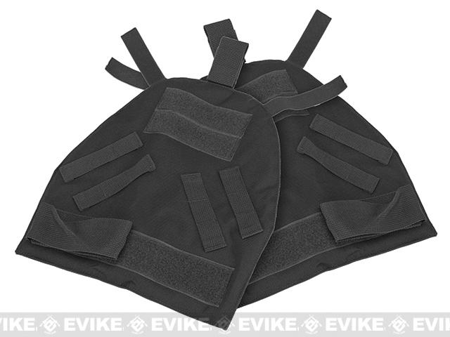 Black Owl Gear / Phantom Shoulder Guards for Interceptor OTV Body Armor / Vests - Black (X-Large)