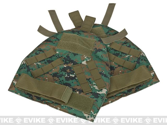 Black Owl Gear / Phantom Shoulder Guards for Interceptor OTV Body Armor / Vests - Digital Woodland (X-Large)