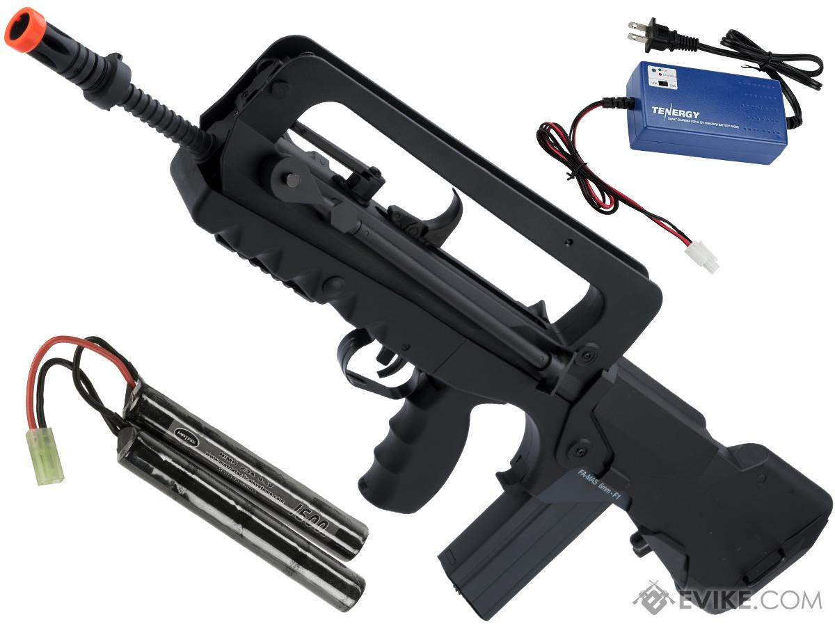 FAMAS Bullpup Airsoft AEG Rifle Fully Licensed by Cybergun (Model: F1 / Battery Package)