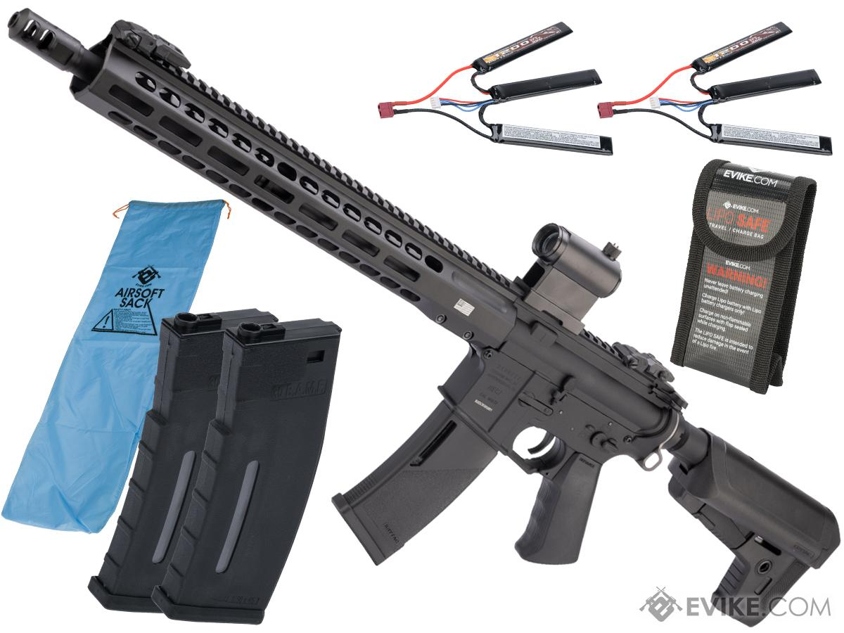 Pre-Order ETA June 2020 EMG / KRYTAC / BARRETT Firearms REC7 DI AR15 AEG Training Rifle (Length: Carbine / Black / Go Airsoft Package)
