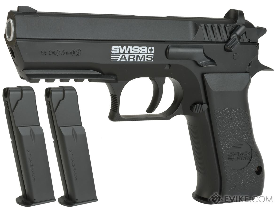Pre-Order ETA October 2021 Swiss Arms 941 Jericho CO2 Powered .177 Airgun Pistol (Color: Black / Reload Package)