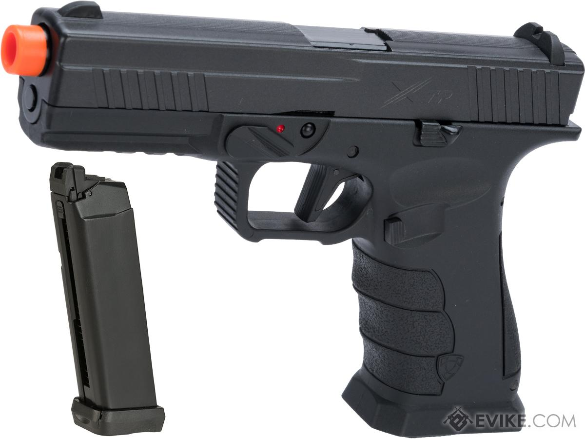 APS XTP Gas Blowback Airsoft Pistol (Color: Black / CO2 / Extra Mag Package)