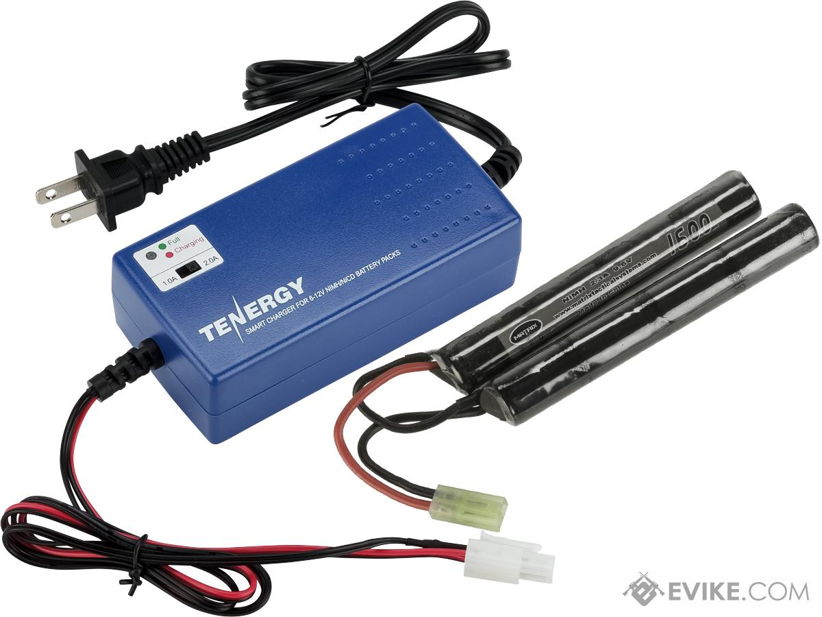 AEG Battery Starter Package w/ Smart Charger (Battery: 9.6v 1600mAh Small Butterfly Type)