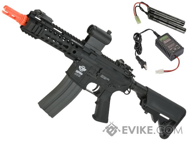 Pre-Order ETA August 2020 G&G CM16-300 Airsoft AEG M4 with Modular RIS - Black (Package: Add 9.6 Butterfly Battery + Smart Charger)