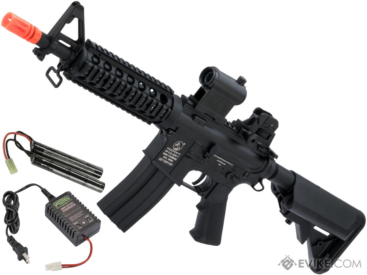 Colt Licensed M4 CQB-R Carbine Airsoft AEG Rifle by Cybergun / CYMA (Package: Add 9.6v NiMH Battery + Charger)