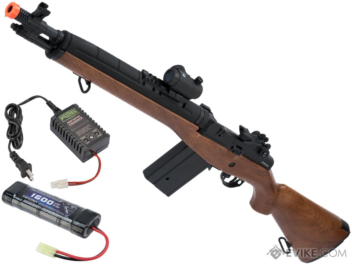 CYMA Sport SOCOM 16 M14 Full Size Airsoft AEG (Package: Imitation Wood / Standard / Add Red Dot & 9.6v Battery + Charger)