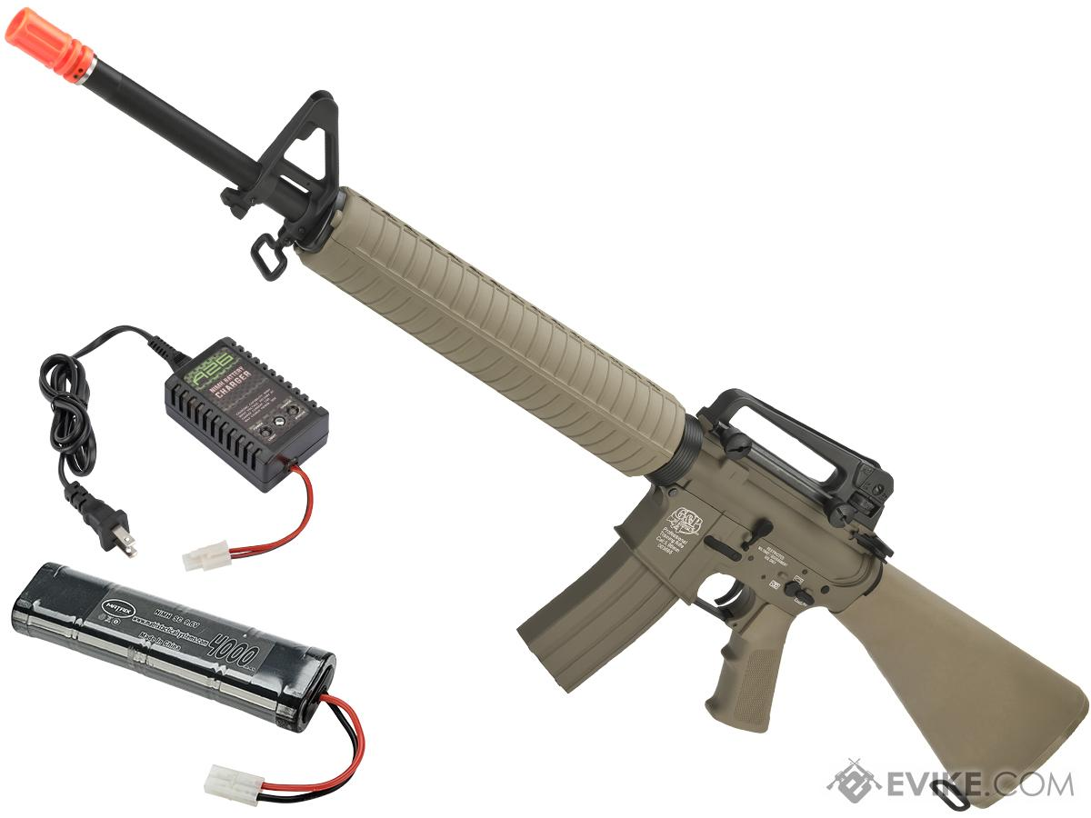 G&P M16A3 Full Size Airsoft AEG Rifle (Package: Desert / Add Battery + Charger)
