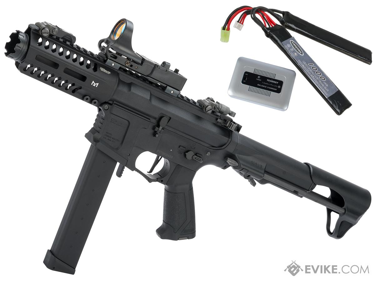 G&G CM16 ARP9 CQB Carbine Airsoft AEG (Package: Black / Gun + LiPo Battery and Charger)