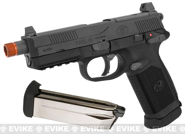 Pre-Order ETA June 2021 Cybergun FN Herstal Licensed FNX-45 Tactical Airsoft Gas Blowback Pistol by VFC (Color: Black / Add Extra Magazine)