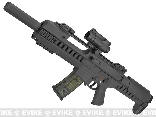 GSG Tactical G14 Carbine Electric Blowback AEG by SoftAir (Package: Black + Red Dot + Suppressor)