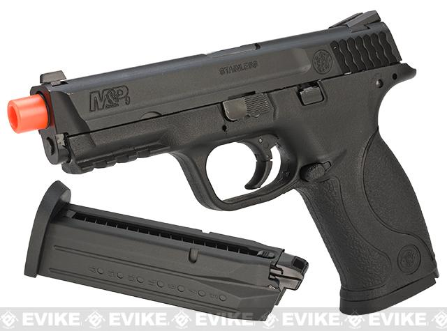 Smith & Wesson Licensed M&P 9 Full Size Airsoft GBB Pistol by VFC (Package: Black / Add Extra Magazine)