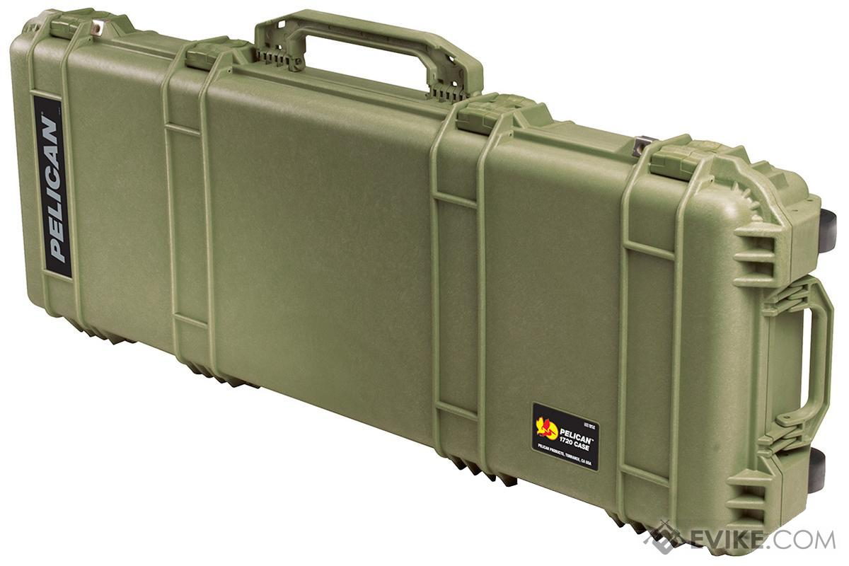 "pelicana""¢ 1720 wl wf long rifle case w wheels od green evike com"