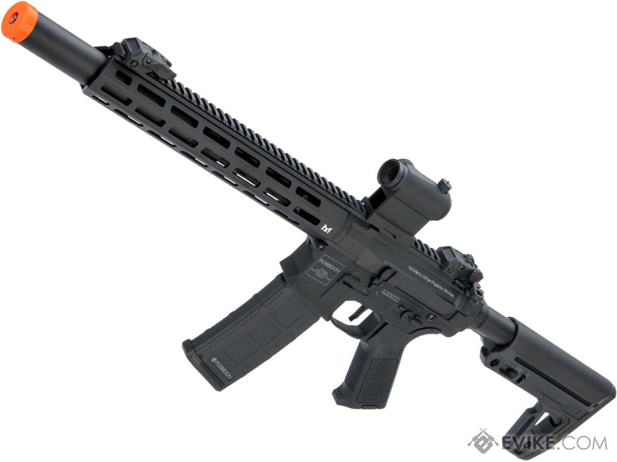 Poseidon Punisher M4-Styled Airsoft AEG Rifle w/ M-LOK Handguard (Model: Black / 14 Rail w/ Mock Suppressor and Standard Stock)