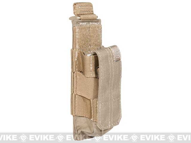 5.11 Tactical Single Pistol Bungee Cover Magazine Pouch - Sandstone