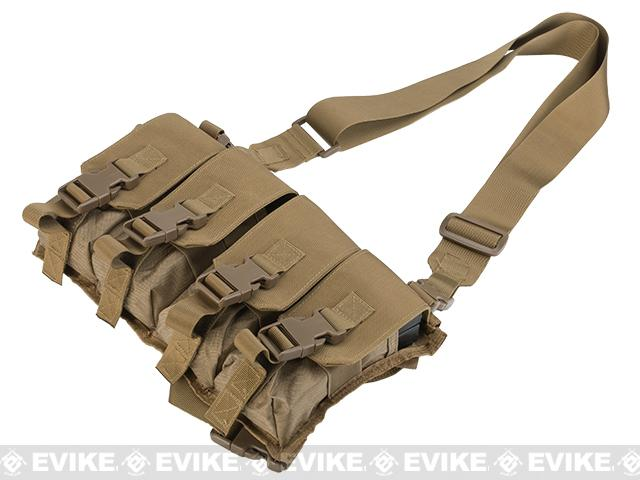 z Gryffon Tactical USMC Low Profile Operator Quad Magazine Rig - Tan