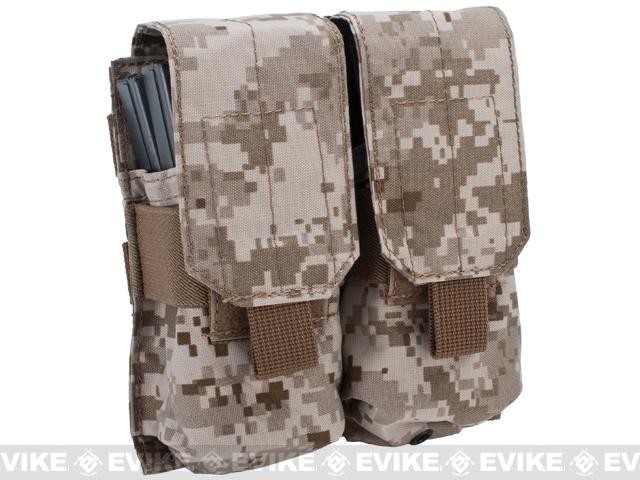 Black Owl Gear / Phantom Modular MOLLE Ready Tactical Double M4 M16 Magazine Pouch - (Color: Digital Desert)