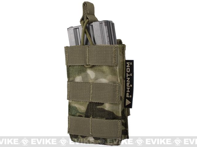 Single M4/M16 Open Top Molle System Ready Mag Pouch by Phantom Gear - Multicam