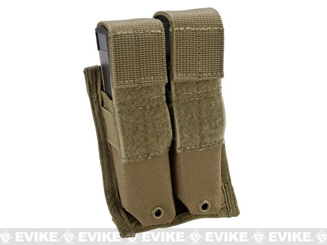 Tactical MOLLE Double Pistol Magazine Pouch by Phantom Gear - Tan