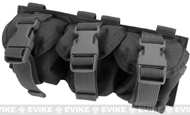 Black Owl Gear / Phantom Triple Frag Grenade MOLLE Ready Pouch - Black