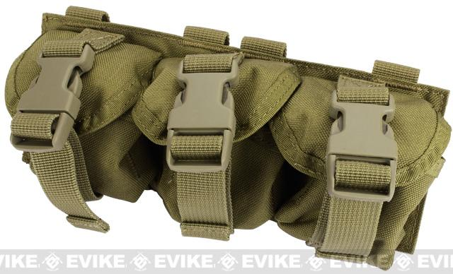 Black Owl Gear / Phantom Gear Triple Frag Grenade MOLLE Ready Pouch - Tan