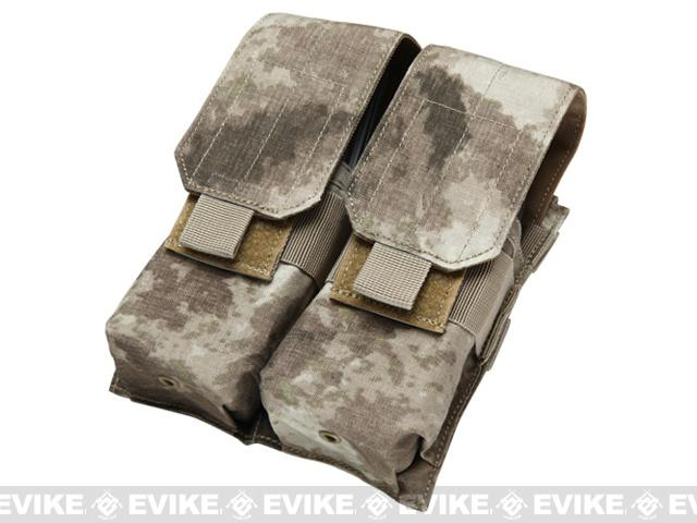 Modular MOLLE Ready Tactical Double M4 M16 Magazine Pouch - A-TACS