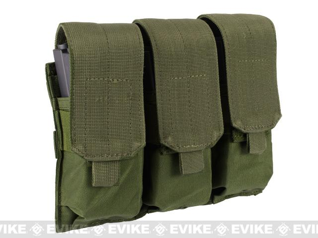Triple M4 / G36 MOLLE Ready Magazine Pouch by Phantom - OD Green