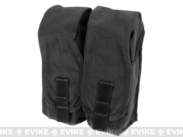 Black Owl Gear / Phantom MOLLE AK M4 G36C Dual-Double Magazine Pouch - Black