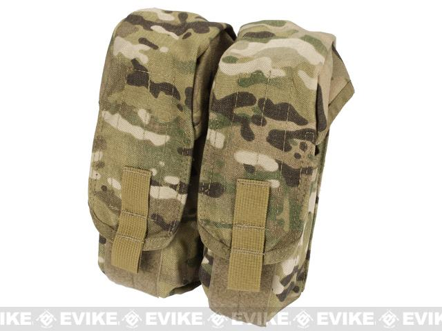 Black Owl Gear / Phantom MOLLE AK M4 G36C Dual-Double Magazine Pouch - Multicam