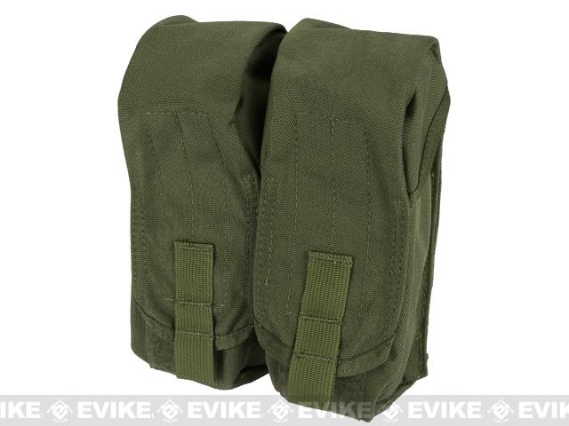 Black Owl Gear / Phantom MOLLE AK M4 G36C Dual-Double Magazine Pouch - OD Green