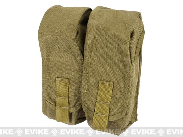 Black Owl Gear / Phantom MOLLE AK M4 G36C Dual-Double Magazine Pouch - Tan