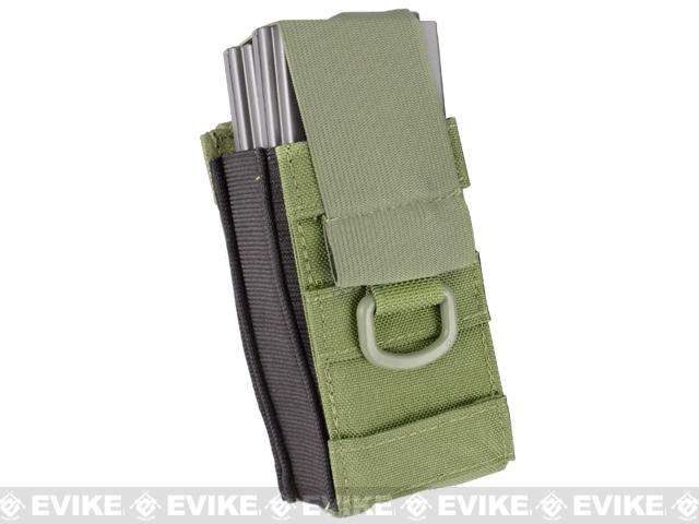 Black Owl Gear / Phantom Aggressor MOLLE Ready M4 AK MP5 Magazine Pouch - Single / OD Green