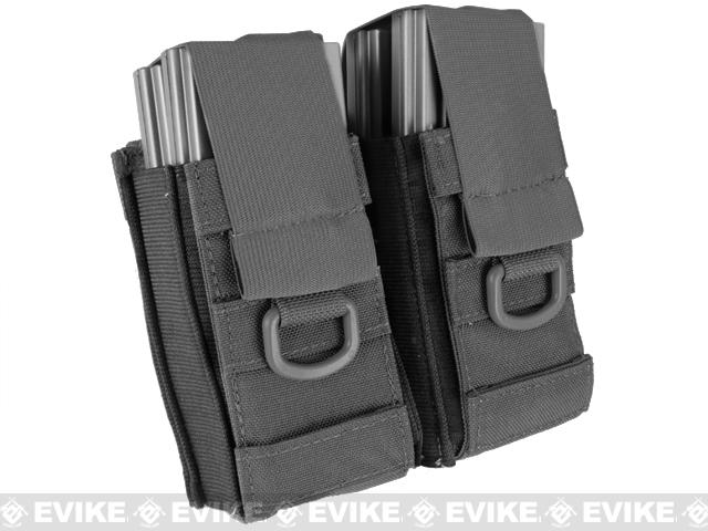 Black Owl Gear / Phantom Aggressor MOLLE Ready M4 AK MP5 Magazine Pouch (Color: Double / Black)