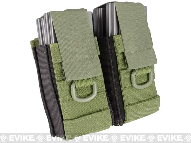 Black Owl Gear / Phantom Aggressor MOLLE Ready M4 AK MP5 Magazine Pouch (Color: Double / OD Green)