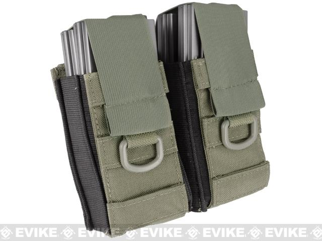 Black Owl Gear / Phantom Aggressor MOLLE Ready M4 AK MP5 Magazine Pouch (Color: Double / Ranger Green)