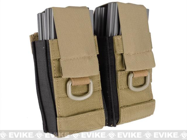 Black Owl Gear / Phantom Aggressor MOLLE Ready M4 AK MP5 Magazine Pouch (Color: Double / Tan)