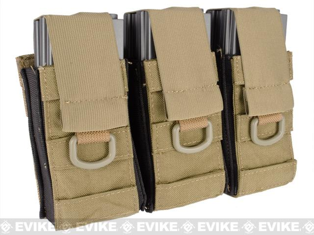 Black Owl Gear / Phantom Aggressor MOLLE Ready M4 AK MP5 Magazine Pouch - Triple (Color: Tan)