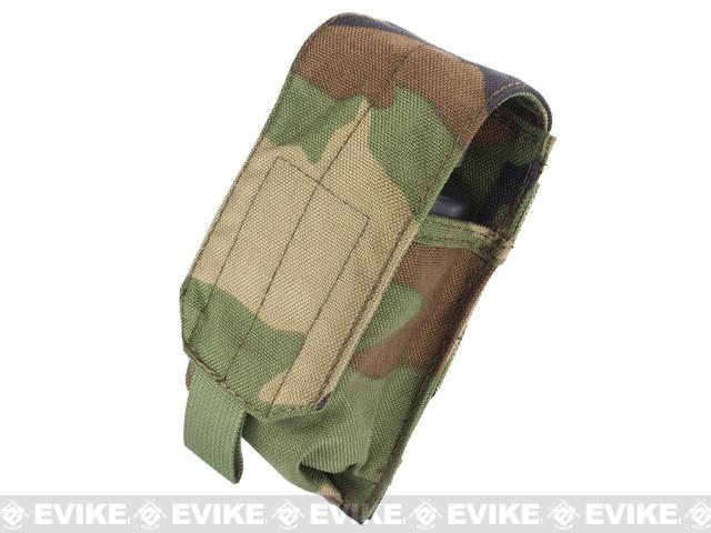 Black Owl Gear / Phantom MOLLE Ready Flashbang / Grenade Pouch - (Woodland Camo)