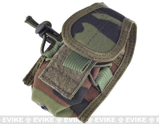 Phantom Gear MOLLE Multi-Purpose Handheld FRS Radio MOLLE Pouch - (Woodland Camo)