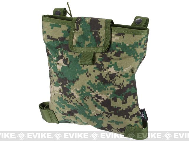 Black Owl Gear / Phantom Gear Dump Pouch w/ Lid and Leg Strap (Color: Digital Woodland)