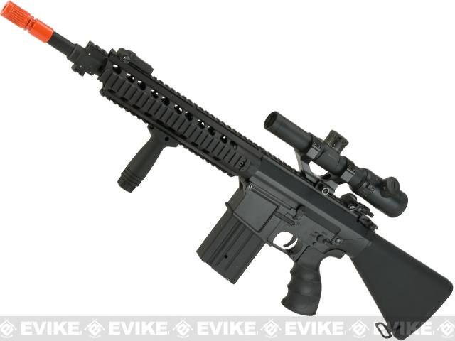 JG Full Metal Devgru SR-25 Airsoft AEG Rifle with Stubby Stock